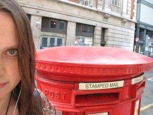 Me in London - with a postbox