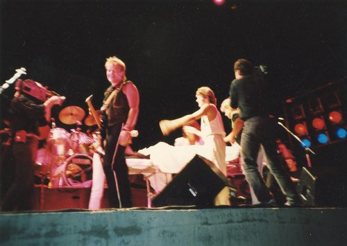 Cutting Crew onstage in 1987